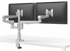 Universal Clamp Mount/Grommet Mount Dual Monitor Arm