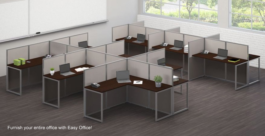 Easy Office Cubicle Series 4 Person Cer L