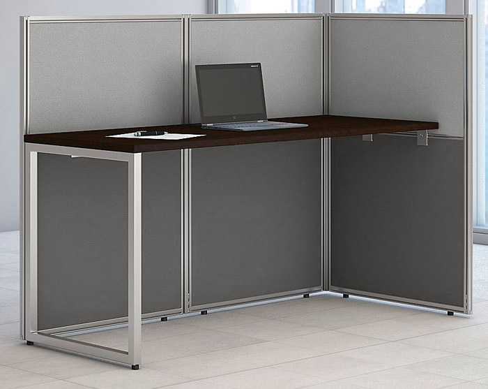 Office cubicle Tiny Everblock Easy Office Cubicle Series Single Open End Cubicle
