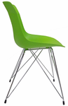 Colorful Molded Plastic Guest Chair w/Eiffel Wire Legs