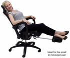 Elastic All-Mesh Reclining Office Chair w/Seat Slide and Footrest