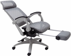 Elastic All-Mesh Reclining Office Chair w/Adjustable Sliding Seat Depth  & Footrest