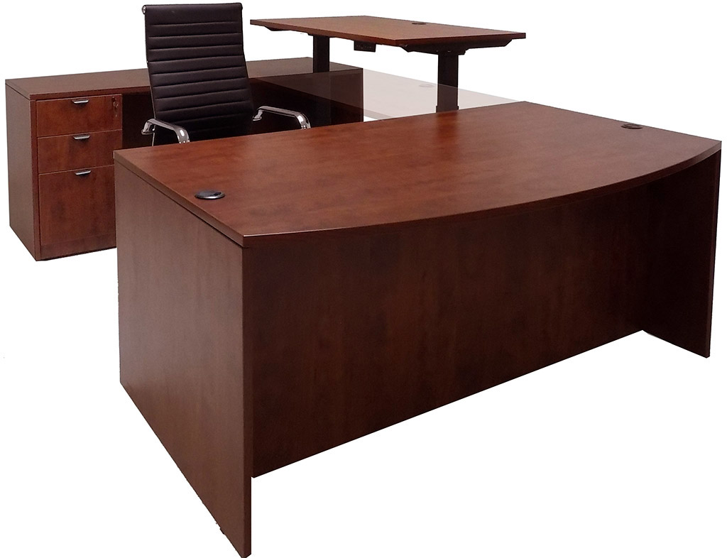 u produit desks hutch shaped with plus desk
