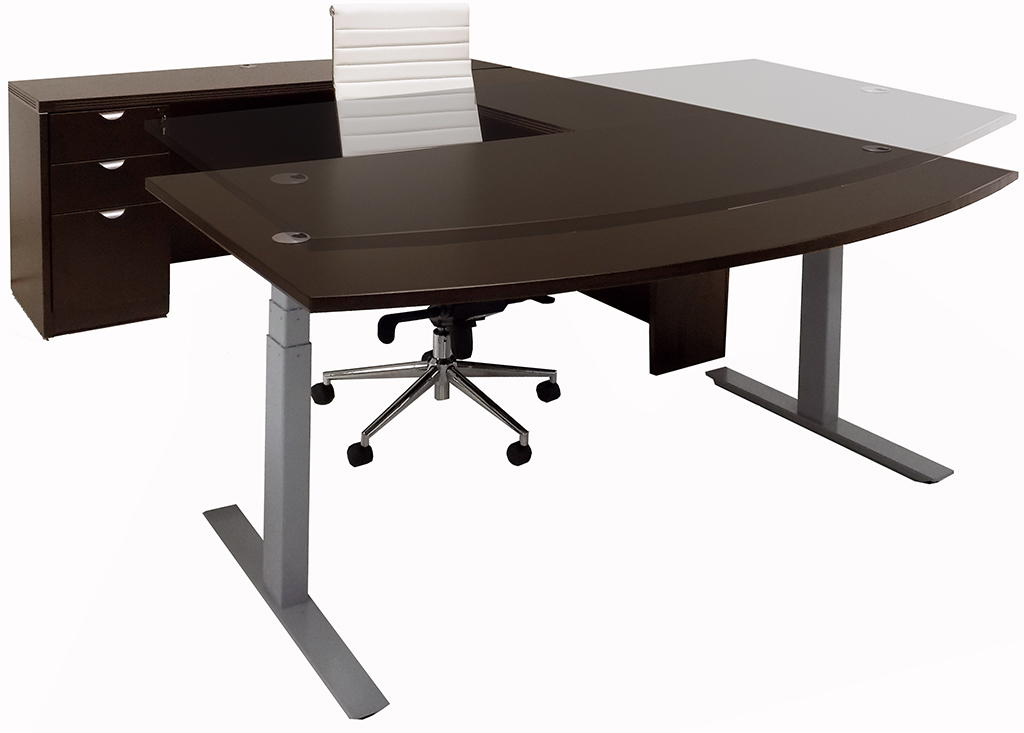Electric lift u workstation free shipping for Motorized adjustable height desk