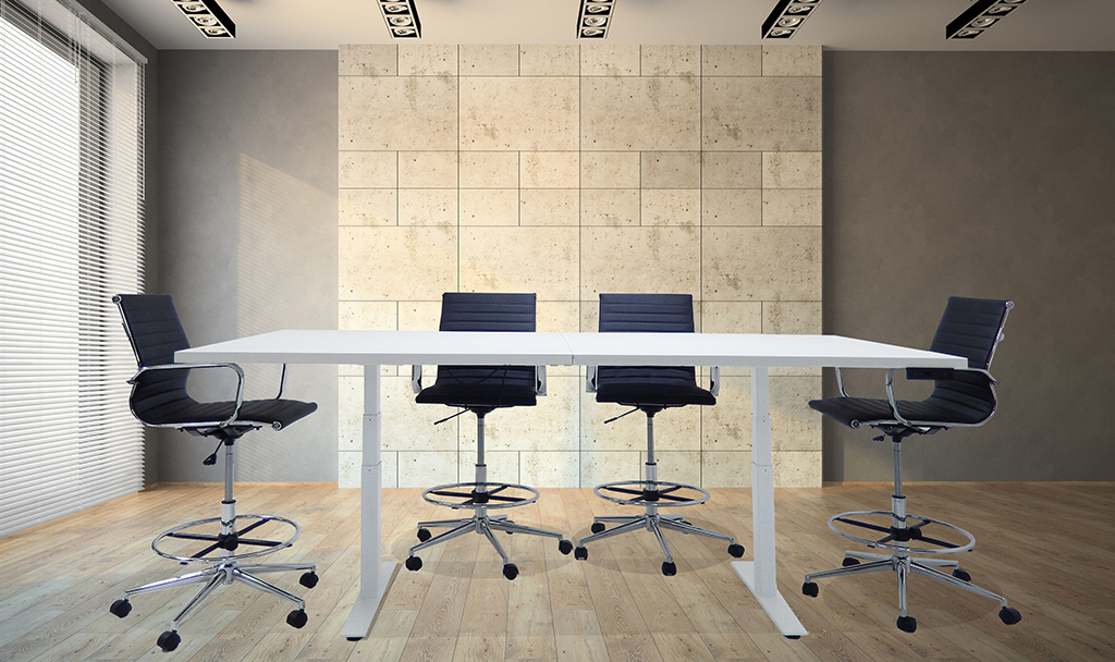 Adjustable Electric Lift 8 Conference Table Rectangular