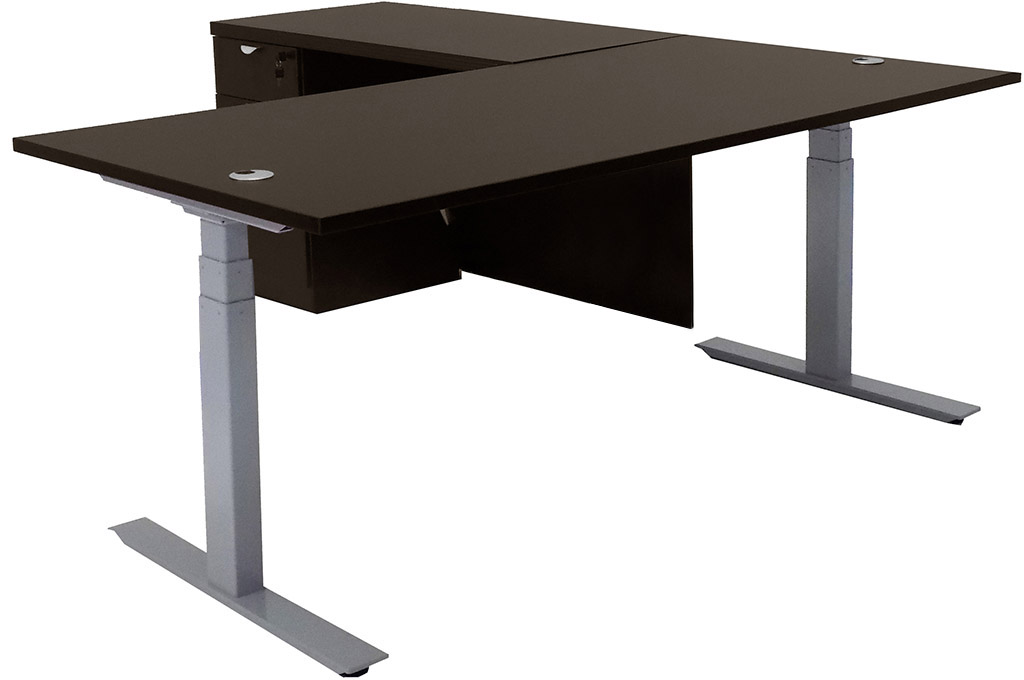 Electric Lift Height Adjustable LShaped Desks - Adjustable height conference table