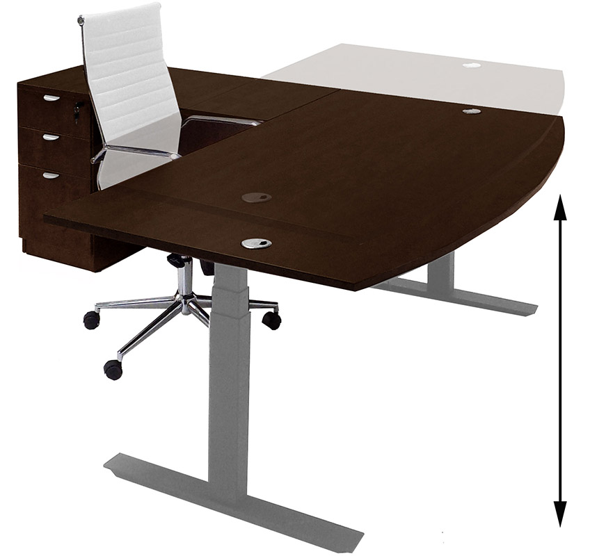 conset adjustable legged l shaped height desk