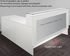 Emerge Glass Top L-Shaped Reception Desk w/Drawers - 66