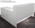 Emerge Glass Top L-Shaped Reception Desk w/Drawers & LED Light - 66