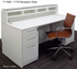 Emerge Glass Top Reception Desk w/Drawers & LED Light - 66