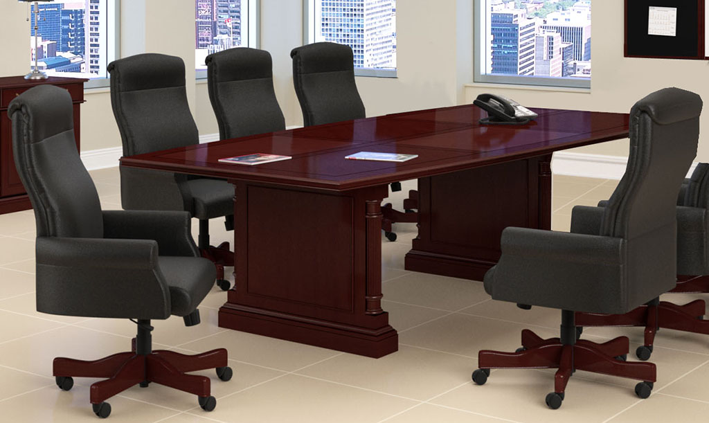 English Cherry Expandable Traditional Conference Tables