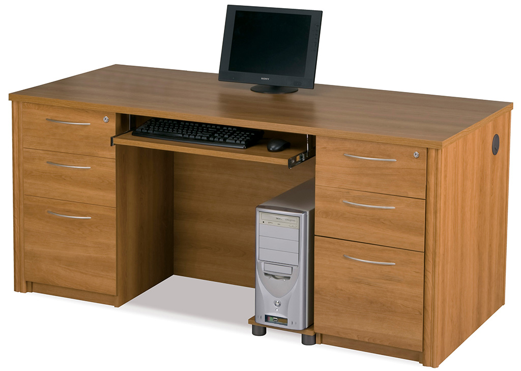Warm Cherry Executive Desk Home Office Collection: Update Your Office With The Fresh Look Of Cappuccino