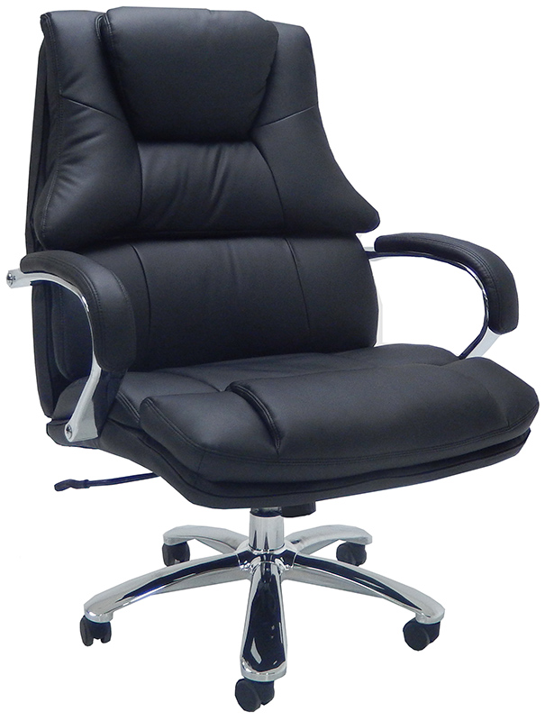 Extra Wide 500 Lbs. Capacity Leather Desk Chair W/ 28 ...