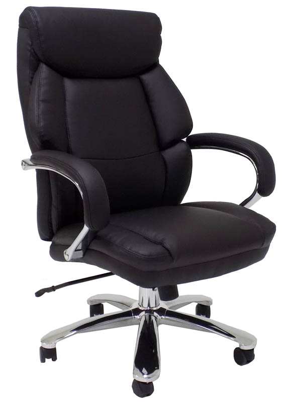 Incroyable Extra Wide 500 Lbs. Capacity Leather Office Chair W/ 24 ...