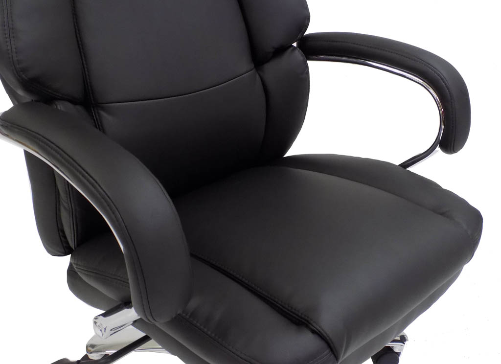Extra Wide 500 Lbs Capacity Leather Office Chair W 24