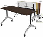 "Flip Top Training Tables in Maple, White, Mocha or Cherry - 60"" x 24"" Table - See Other Sizes"