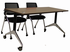 Flip Top Training Tables in Modern Walnut, White, Maple, Mocha or Cherry- 60