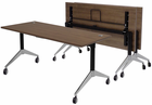 "Flip Top Training Tables in Modern Walnut, White, Maple, Mocha or Cherry- 60"" x 28"" Table - See Other Sizes"