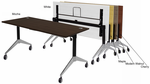 """Flip Top Training Tables in Maple, White, Mocha or Cherry- 60"""" x 24"""" Table - See Other Sizes"""