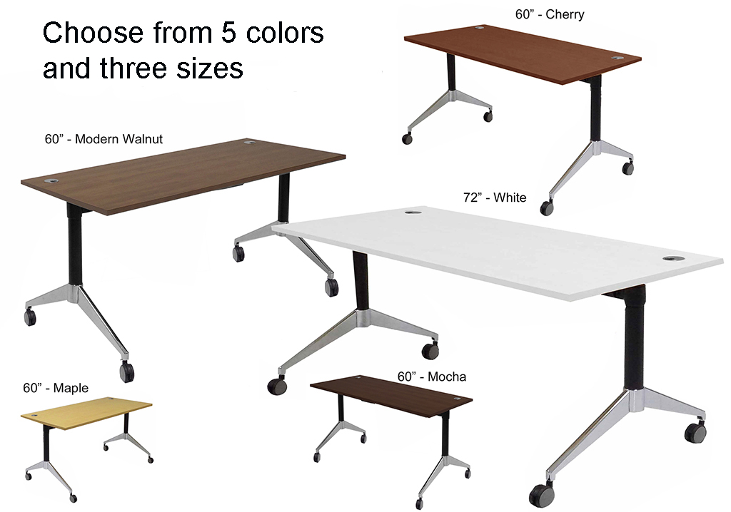 ... Flip Top Training Tables In Maple, White, Mocha Or Cherry   60 ...