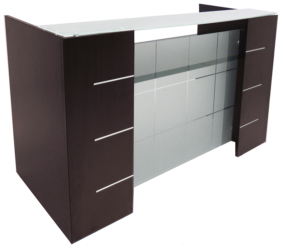 Glass Front Reception Desk In 5 Colors!