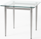 "Glass Reception End Table & Coffee Table Series - 22"" Square End Table"