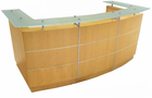 Glass Top Maple Welcome Desk w/Mobile Files