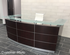 Glass Top Walnut Welcome Desk