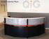 Half Round Glass Top Reception Desk