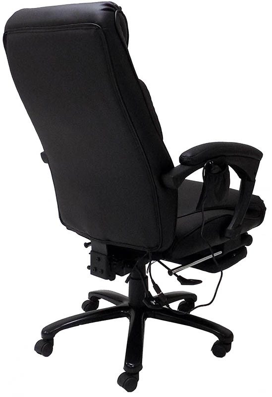 Massage Reclining Leather Office Chair wFootrest