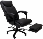 Heated Massage Reclining Leather Office Chair w/Footrest