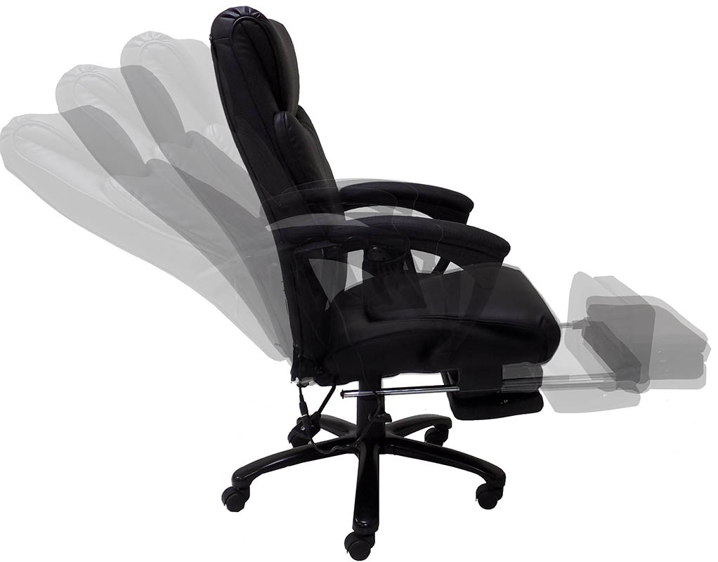 bg massage ochair reclining var heat chair recliner executive point m itm computer office pu racing leather