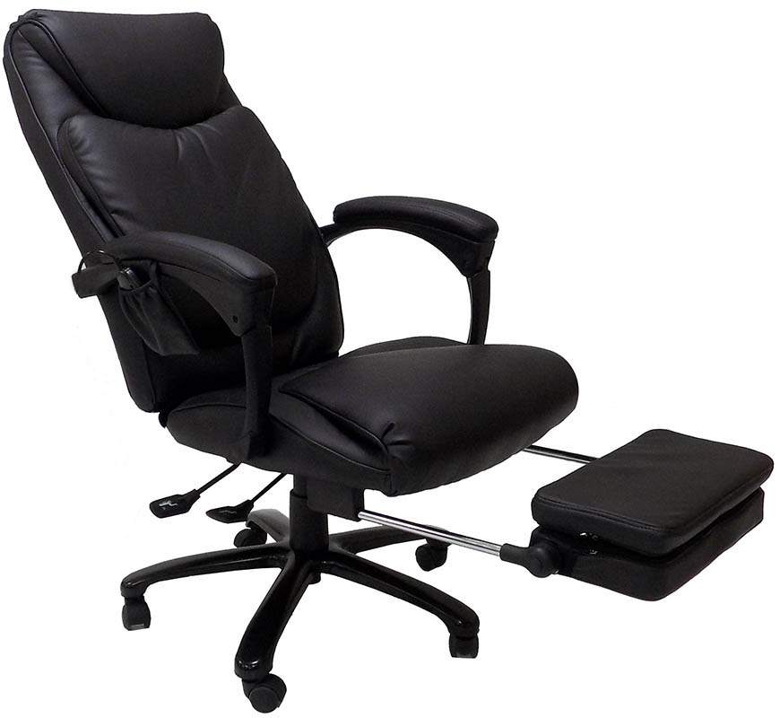 Heated Massage Reclining Leather Office Chair w/Footrest  sc 1 st  Modern Office : reclining office chairs with footrest - islam-shia.org
