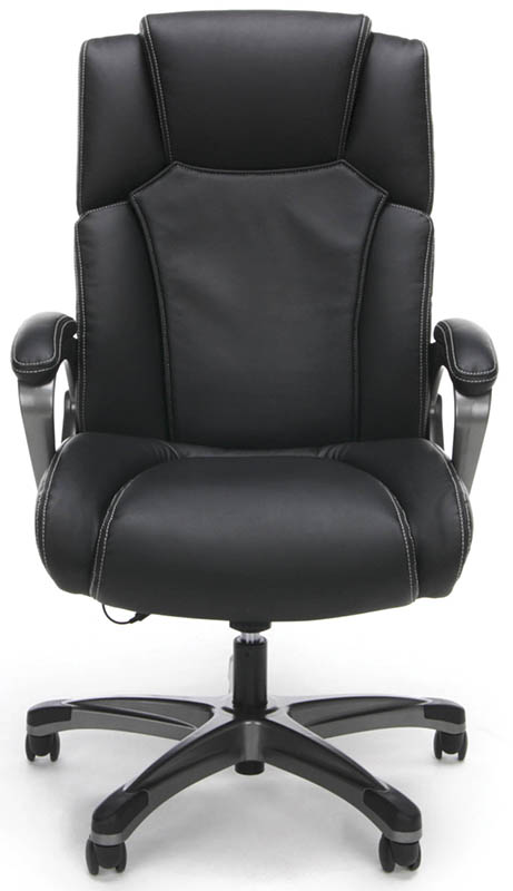 heated shiatsu massage leather office chair
