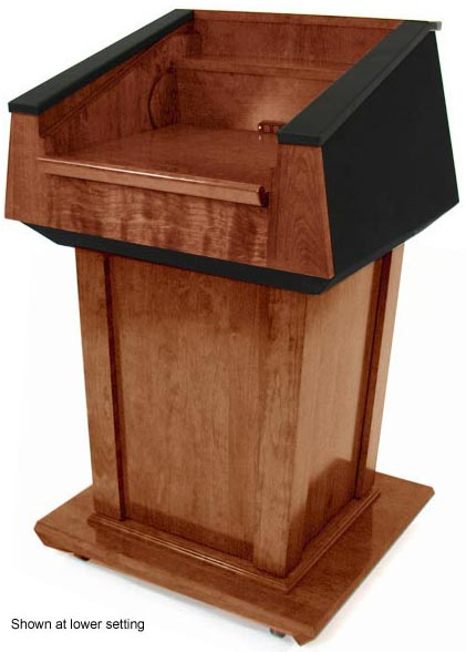 Podium Lift Mechanism : Height adjustable presidential podium