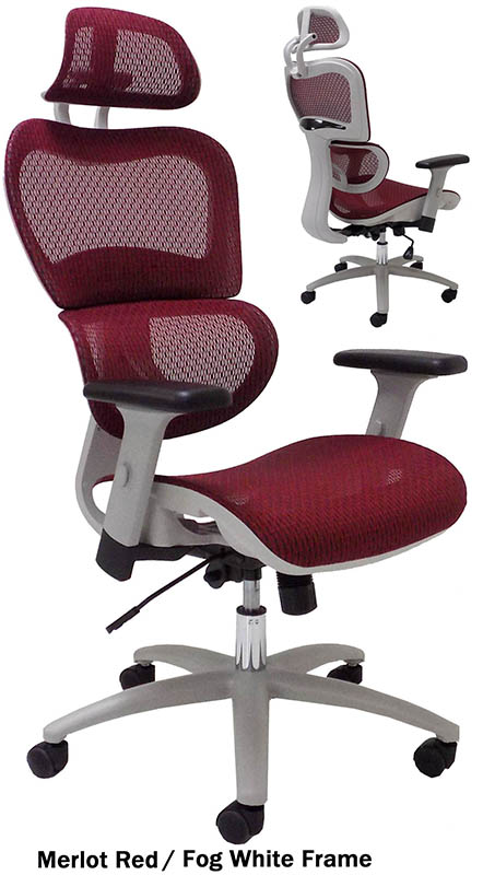 humanflex elastic all mesh ergonomic chair w headrest. Black Bedroom Furniture Sets. Home Design Ideas