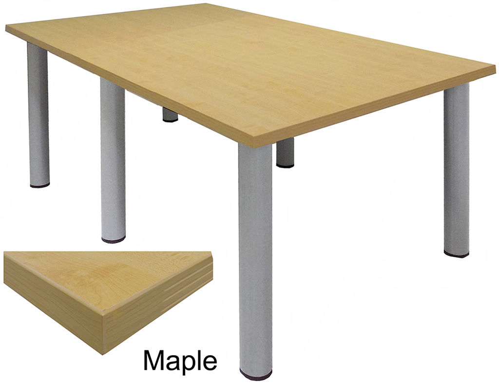 Round Table For 4 Diameter: Conference Tables W/ Round Post Legs In 6 Colors From 6