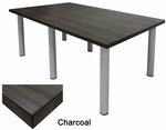 Conference Tables w/ Round Post Legs in 5 Colors from 6' to 16' Long.  6' x 4' Size-See Other Sizes Below