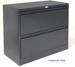 In Stock Value Non-Locking Steel 2-Drawer Lateral File