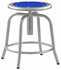 Industrial Metal Stool with Colored Seat, 18