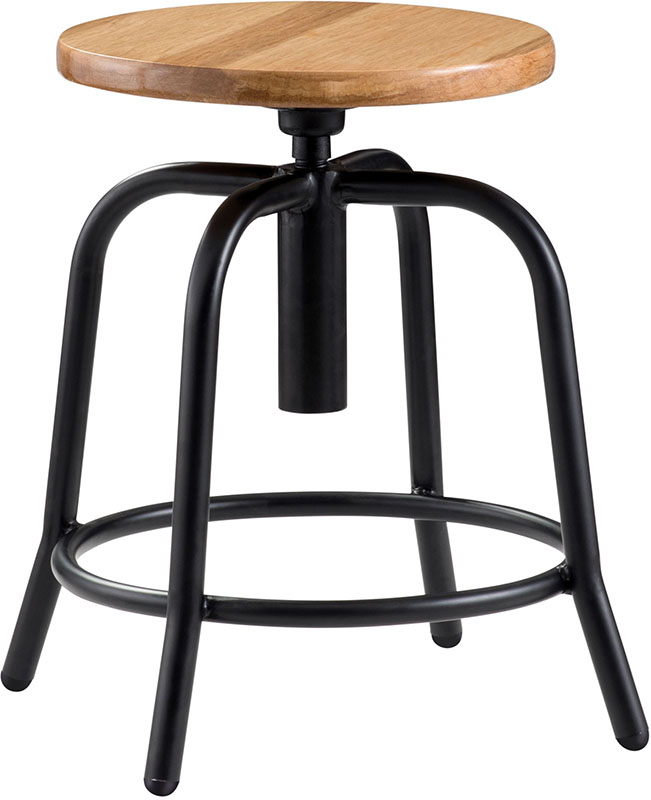 with wooden interiors gun tolix seat style bar wood stool metal peppermill