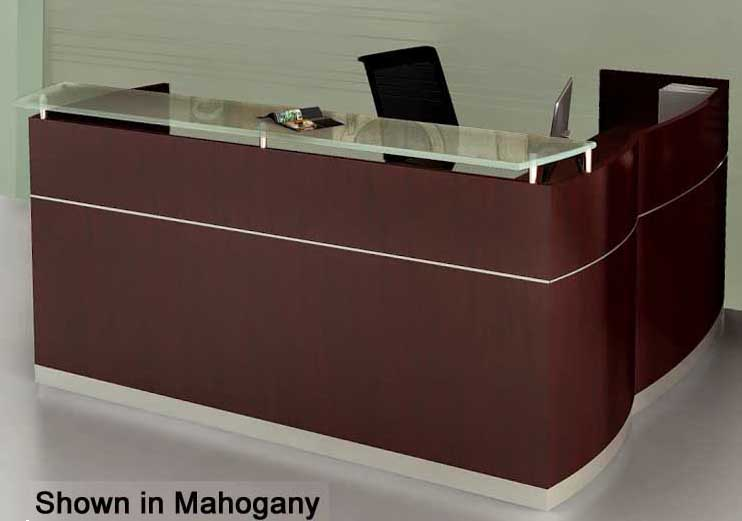 L Shaped Napoli Reception Desk With Drawers