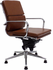 Leather Soft Pad Swivel Guest Chair on Glides - White, Black, Red or Brown
