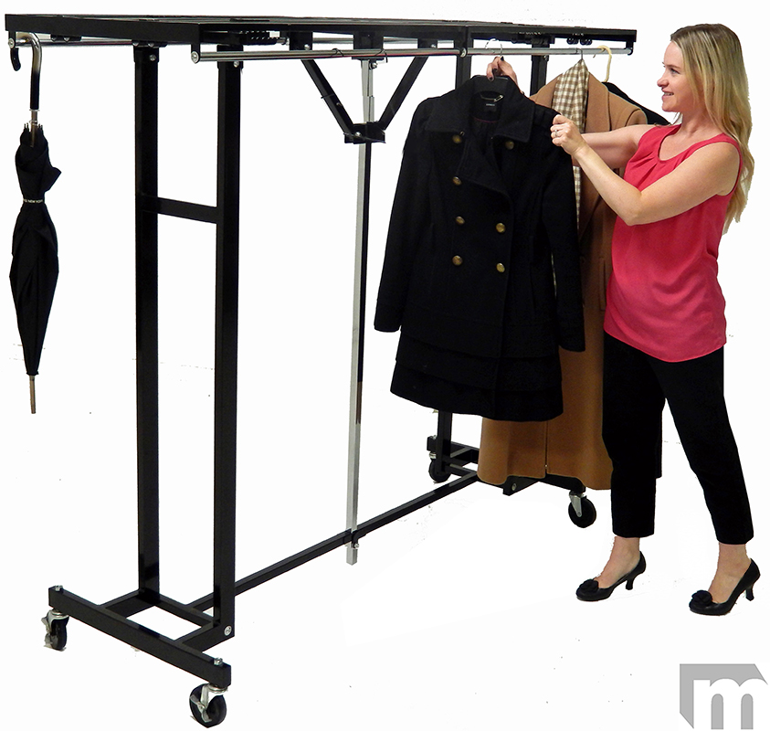 6 Wide Portable Folding Coat Rack In Stock