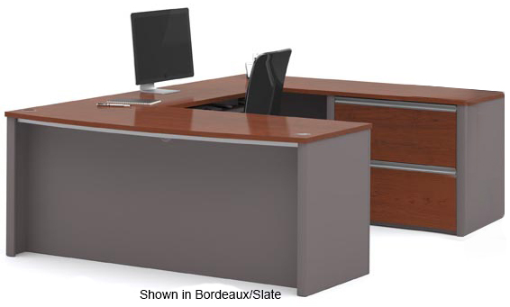... Metro Office Furnishings In 2 Finish Choices   U Shaped Workstation ...