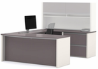 Metro Office Furnishings in 2 Finish Choices - U-Shaped Workstation