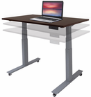 "Mobile Electric Lift Height Adjustable Table Series - 48""W x 24""D"