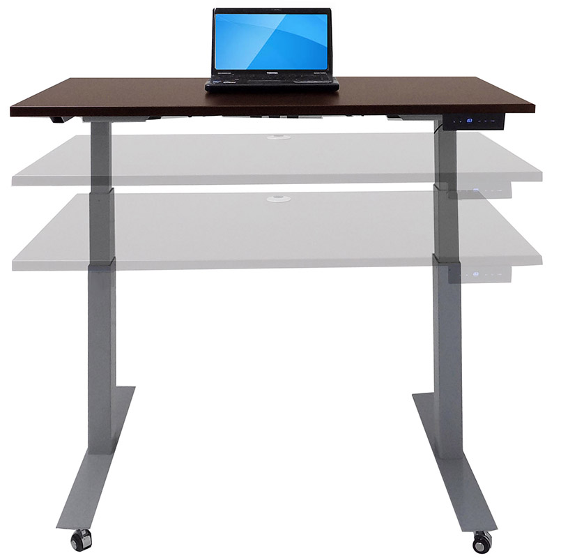 Mobile electric lift height adjustable table series 48 w for Motorized adjustable height desk