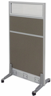 "Mobile Portable Partitions - 24""W x 48-3/4""H w/Glass Window  - See Other Sizes"