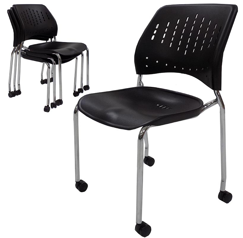 competitive price f7f41 3156a 300 lb. Capacity Mobile Stacking Guest Chair